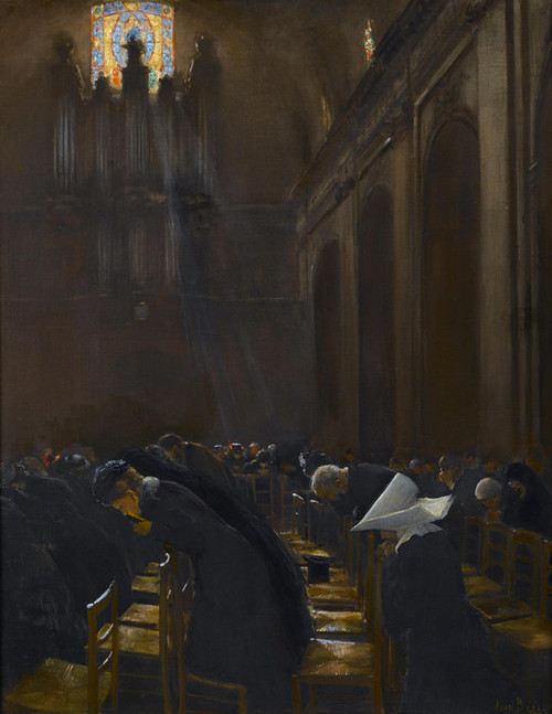 Art Prints of The Elevation of the Host by Jean Beraud