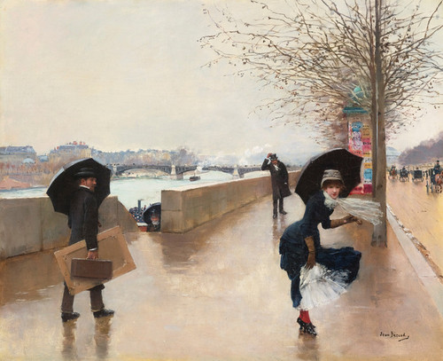 Art Prints of The Wind by Jean Beraud
