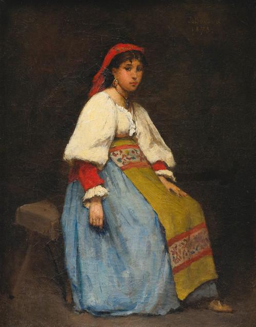 Art Prints of Young Italian Girl by Jean Beraud