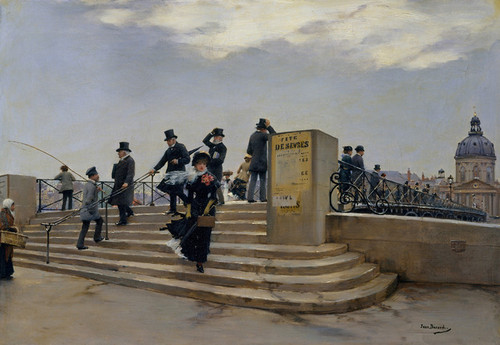 Art Prints of A Windy Day on the Port des Arts by Jean Beraud