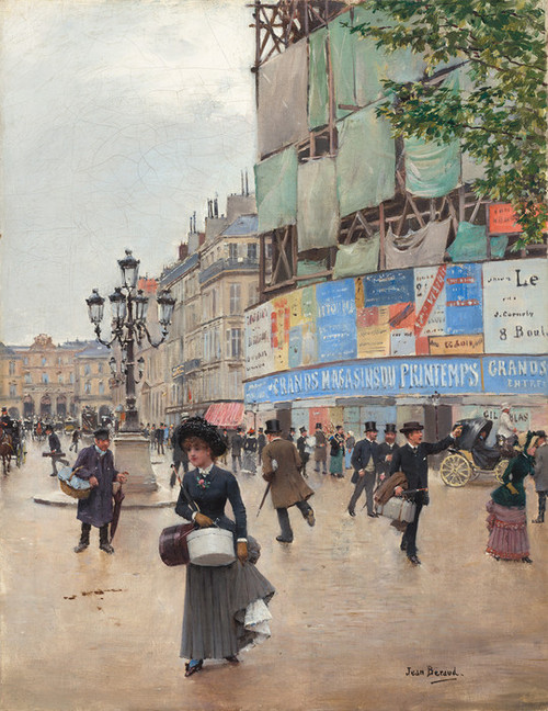 Art Prints of Paris, Rue du Havre 1882 by Jean Beraud