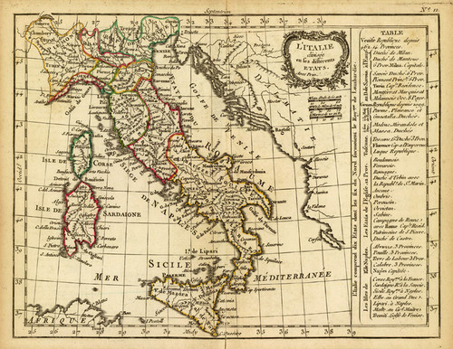 Art Prints of Delamarche Italy, 1800 (0421009) by Jean Lattre and Charles Francois