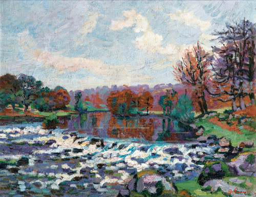 Art Prints of Genetin Dam by Jean-Baptiste-Armand Guillaumin