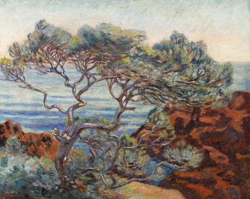 Art Prints of The Red Rocks Agay by Jean-Baptiste-Armand Guillaumin