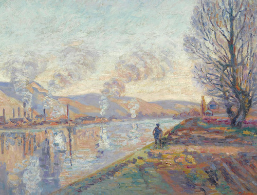 Art Prints of The Seine above Rouen by Jean-Baptiste-Armand Guillaumin