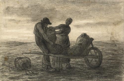 Art Prints of The Potato Harvest by Jean-Francois Millet