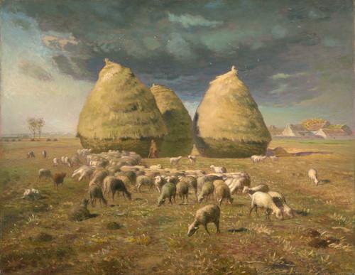 Art Prints of Haystacks, Autumn by Jean-Francois Millet