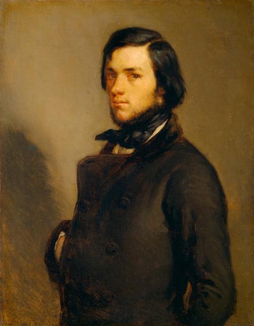 Art Prints of Portrait of a Man, 1845 by Jean-Francois Millet