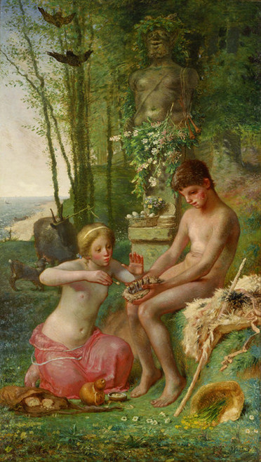 Art Prints of Spring, Daphnis and Chloe by Jean-Francois Millet