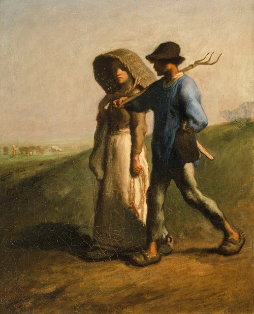Art Prints of Going to Work by Jean-Francois Millet