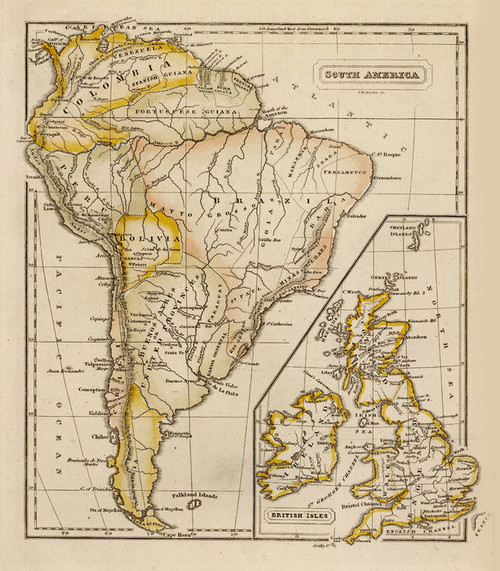 Art Prints of South America, British Isles (0627003) by Jedidiah and Sidney E. Morse
