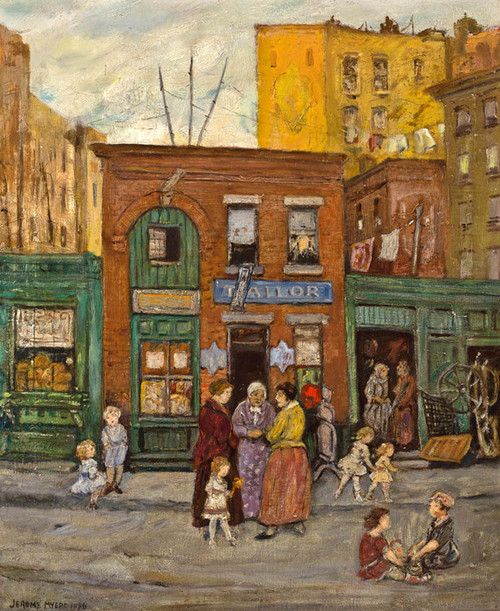 Art Prints of Shops in Harlem, New York City by Jerome Myers