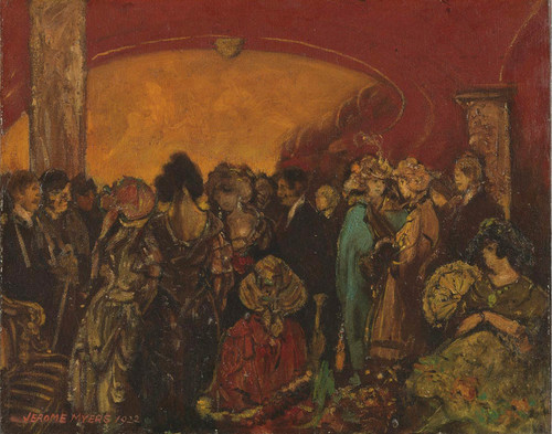 Art Prints of Theatre Lobby, Intermission by Jerome Myers
