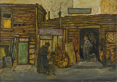 Art Prints of Vendor's Row by Jerome Myers