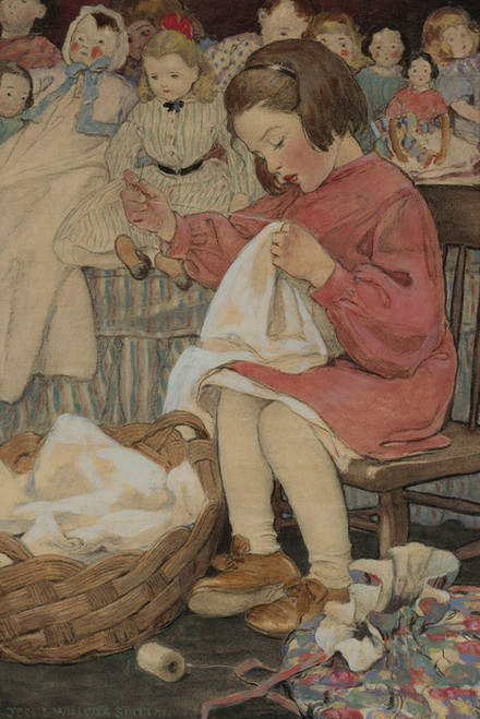 Art Prints of How Doth the Busy Little Bee by Jessie Willcox Smith