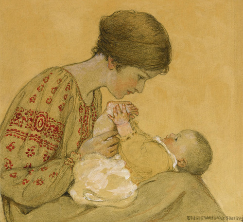 Art Prints of The Newborn by Jessie Willcox Smith