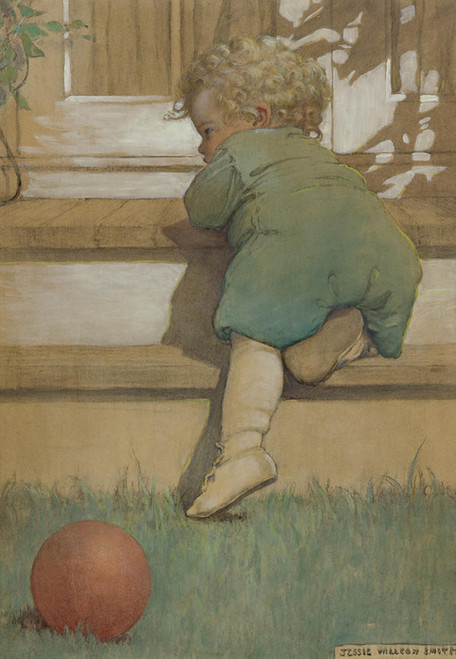 Art Prints of Then the Baby Toddling Boy by Jessie Willcox Smith