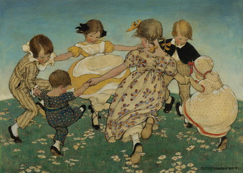 Art Prints of Around the Ring of Roses by Jessie Willcox Smith