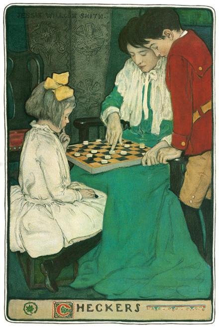 Art Prints of Checkers by Jessie Willcox Smith