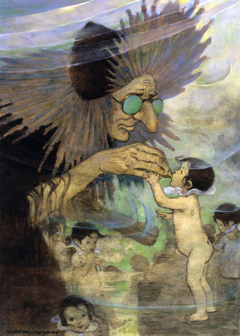 Art Prints of Water Babies II by Jessie Willcox Smith