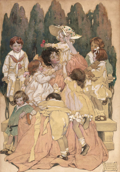 Art Prints of From a Garden of Verses by Jessie Willcox Smith