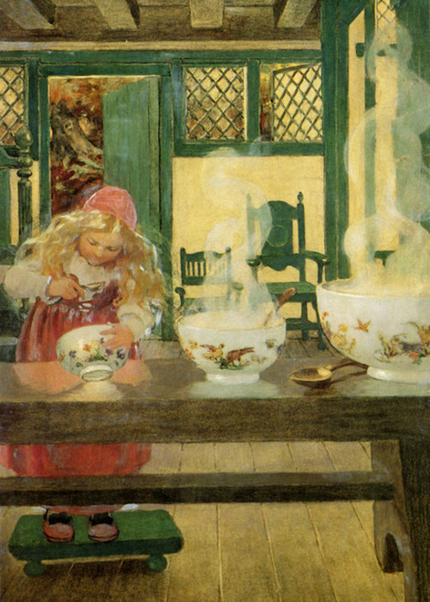 Art Prints of Goldilocks and the Three Bowls by Jessie Willcox Smith