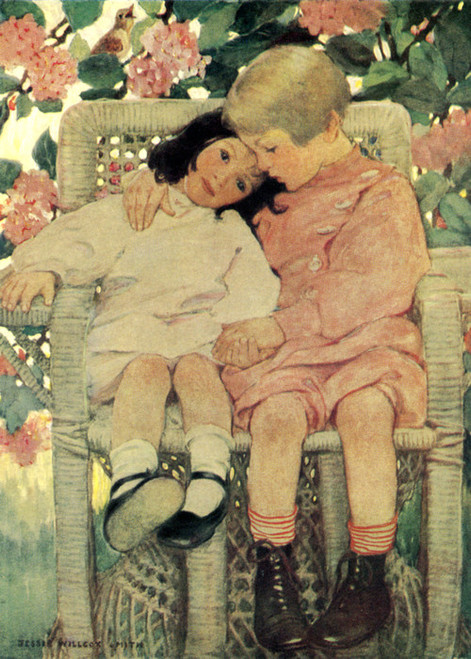 Art Prints of A Child's Question by Jessie Willcox Smith