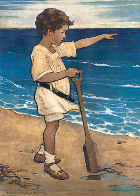 Art Prints of Daddy's Over There, 1918 by Jessie Willcox Smith