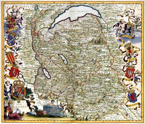 Art Prints of Map of Savoye, 682 (185) by Joan Blaue