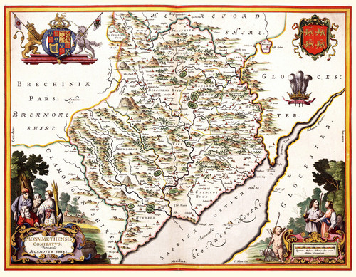 Art Prints of Monmouthshire, 1645 (431) by Joan Bleau