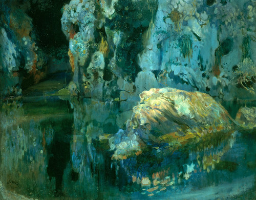 Art Prints of The Rock in the Pond by Joaquin Mir