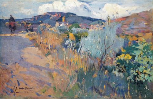 Art Prints of View of L'Aleixar by Joaquim Mir