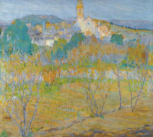 Art Prints of A View of Santa Maria Maspujols by Joaquim Mir