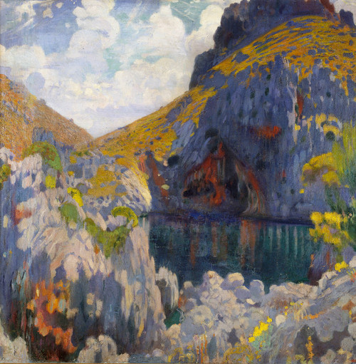 Art Prints of Gold and Azure by Joaquim Mir