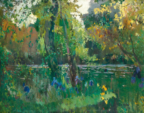 Art Prints of Riverbank in the Forest by Joaquim Mir