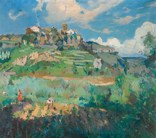 Art Prints of Village San Quirce de Valles by Joaquin Mir