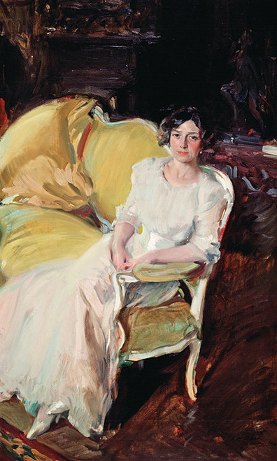 Art Prints of Clotilde Seated on the Sofa by Joaquin Sorolla y Bastida