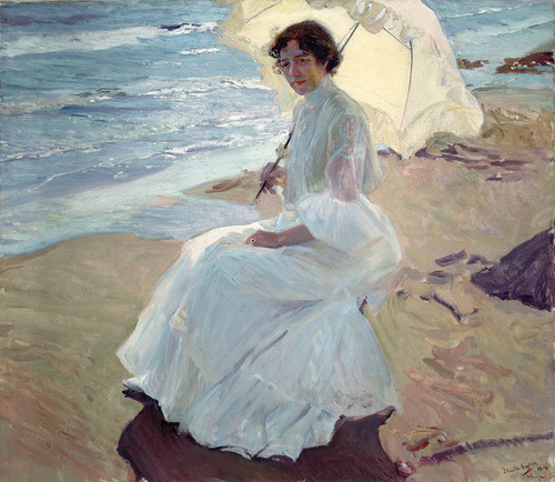 Art Prints of Clotilde on the Beach by Joaquin Sorolla y Bastida