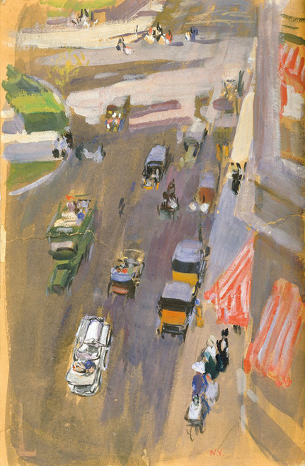 Art Prints of Fifth Avenue, New York by Joaquin Sorolla y Bastida