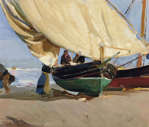 Art Prints of Fishing Boats in Valencia by Joaquin Sorolla y Bastida