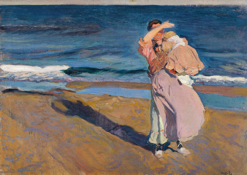 Art Prints of Fisherwoman with Her Son by Joaquin Sorolla y Bastida