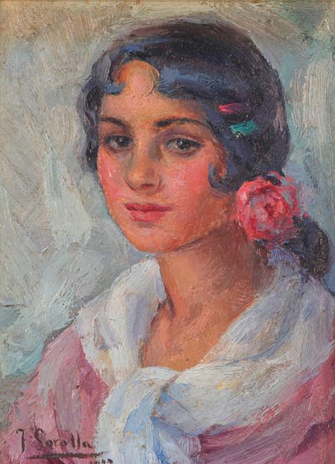Art Prints of Portrait of a Woman by Joaquin Sorolla y Bastida