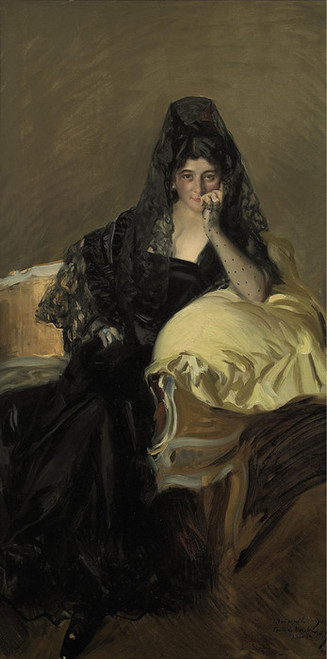 Art Prints of Portrait of Lady Urcola by Joaquin Sorolla y Bastida