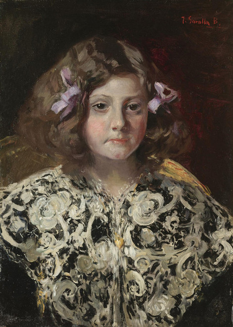 Art Prints of Portrait of Maria Paz Barcena Velarde by Joaquin Sorolla y Bastida