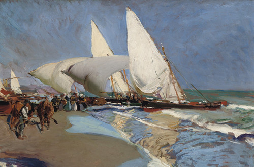 Art Prints of The Beach at Valencia by Joaquin Sorolla y Bastida
