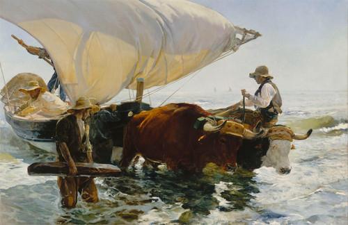 The Return from Fishing by Joaquin Sorolla y Bastida | Fine Art Print