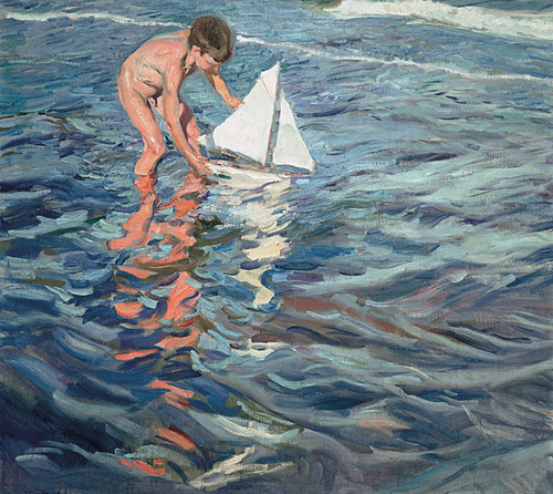 Art Prints of The Little Sailing Boat by Joaquin Sorolla y Bastida
