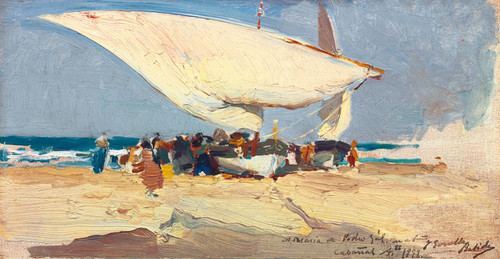 Art Prints of The Return of the Catch, Valencia Beach by Joaquin Sorolla y Bastida