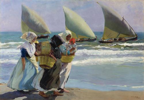 Art Prints of The Three Sails by Joaquin Sorolla y Bastida