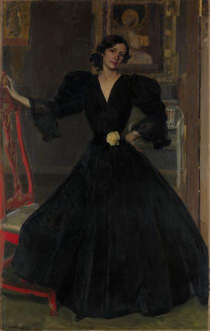 Art Prints of Clotilde Garcia del Castillo in Black by Joaquin Sorolla y Bastida